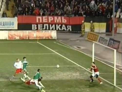 Stevica Ristić scores his goal