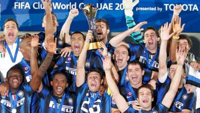 Inter celebrates the Club World Cup title