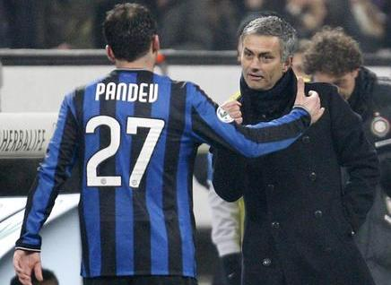 Pandev and Mourinho while at Inter; photo: AP