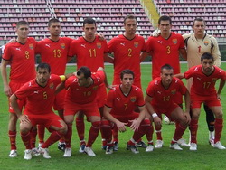 Macedonian national team in 2010