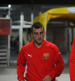 Dejan Blazhevski in Macedonian national team shirt