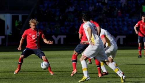 Macedonia fell 2:0 against Norway; photo: fotball.no