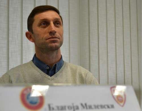 Blagoja Milevski in his office at FFM; photo: FFM