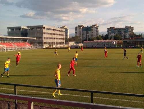 Moment of Tuesday's game; photo: Filip Zdraveski