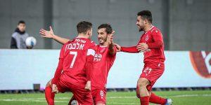 Stefan Spirovski celebrating his second goal