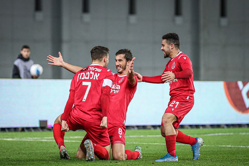 Stefan Spirovski celebrating his second goal
